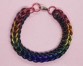Child's Dark Rainbow Bracelet