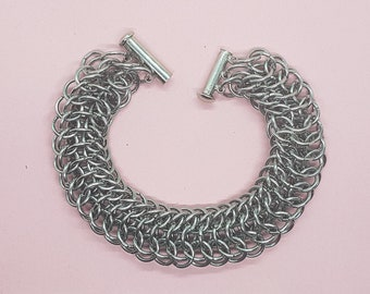 Dragonback Chainmail bracelet in Stainless Steel