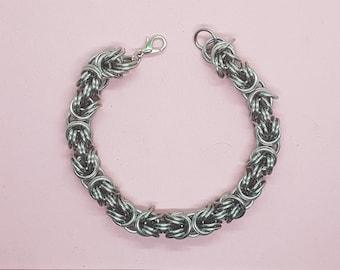 Kinged Byzantine Bracelet in Stainless Steel