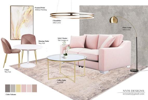 Custom Interior Design I Mood Board, Interior Design Furniture Layout