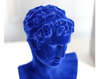 Yveskleinblue Flocked Sculpture/Marathons boy Flocked Statue/Flocking Plaster Ornaments/Artwork Sculpture/Velvet Planting yvesklein