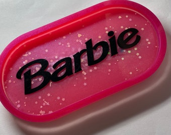 FREE UK DELIVERY Glitter Pink Princess Peach Resin Trinket Tray