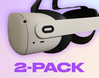 2-Pack Oculus Side Strap Logo ~ Oculus Quest and Oculus Quest 2 Decal ~ Custom Color ~ Free Shipping ~ Premium Vinyl