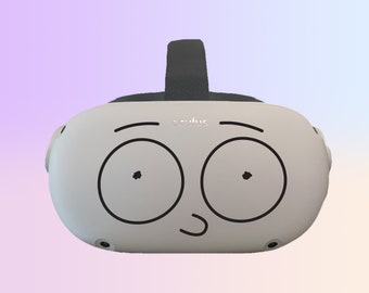 Morty Eyes ~ Rick and Morty ~ Oculus Quest and Oculus Quest 2 Decal ~ Custom Color ~ Free Shipping ~ Premium Vinyl