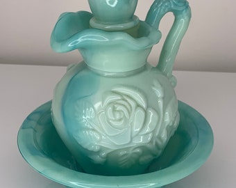 Avon collectible small pitcher and bowl