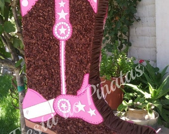 Pink cowboy boot (Other colores available upon request).