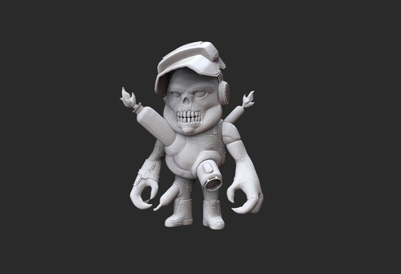 Cueball Doom Collectable Toy 3D Model STL File
