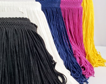 """2"""", 4"""", 6"""" and 12"""" Chainette Fringe, Polyester Fabric Fringe, Tassel Fringe by the Yard for Dance Performance Broadway Carnival Costumes"""