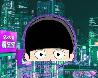 "Shigeo ""Mob"" Kageyama | Mob Psycho 100 | Prismatic Vinyl Peeker Window Bumper Decal Premium Anime Sticker"