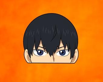 Kageyama Tobio | Haikyuu!! | Vinyl Peeker Window Bumper Decal Premium Anime Sticker