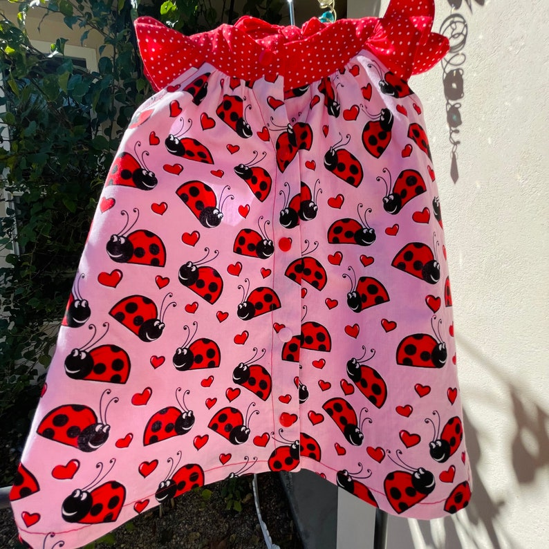 ladybug dress for toddler cute baby girls dress cute pink toddler dress with  square pockets and matching hanger Ladybug dress for girls