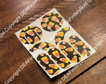 Halloween Candy Corn: Cochlear Implant Skins for MedEl, Cochlear, and Advanced Bionics