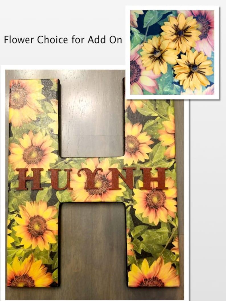 Sunflower Wood Letter Sunflower decor Wall decor Flower   Etsy