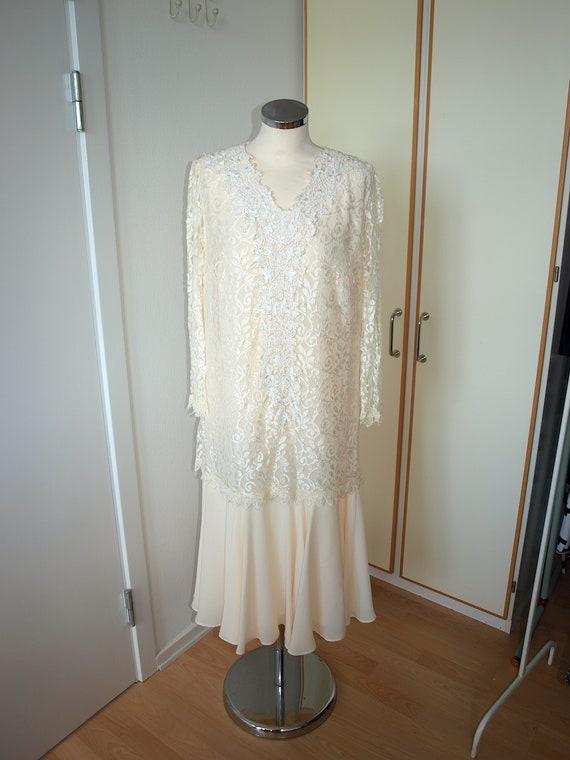 70s Wedding dress, Young Edwardian, romantic lace