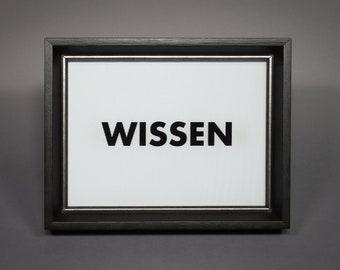 WISSEN/GLAUBEN