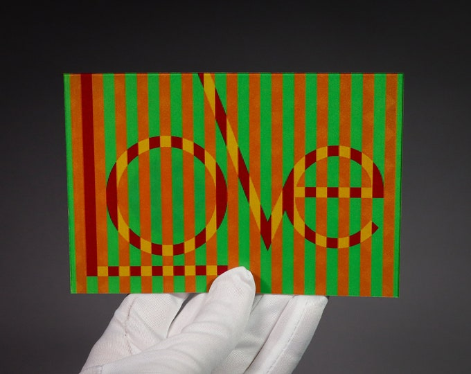 Postcard LOVE / Lenticular Effect