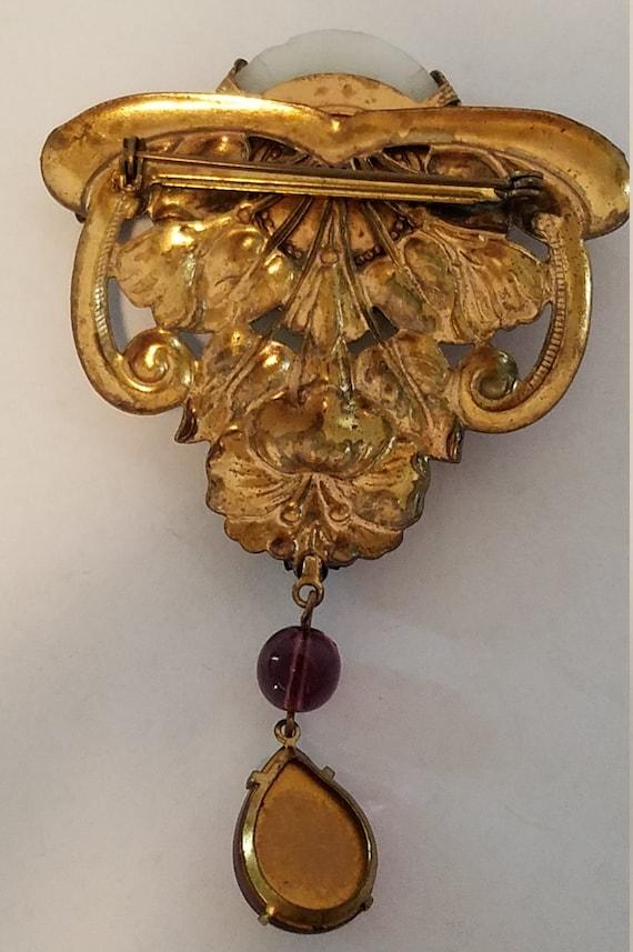 Art Nouveau Cameo Brooch - image 2