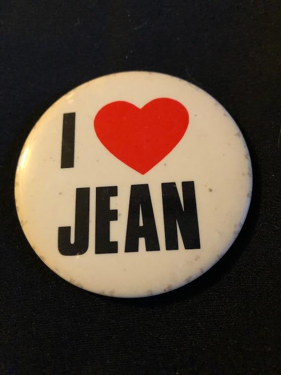 Vintage 1980s \u201cI love Ana\u201d Button Pin