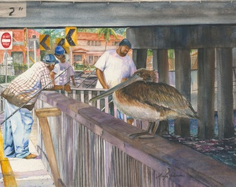 Fishing Under The Bridge (Limited Edition Only 50 Available in the World)