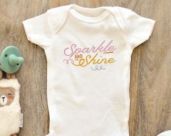 Baby Onesie-Born To SparkleBaby Boy-Baby Girl-Baby Shower Gift-Unisex-Strar-Sparkle-Onesie