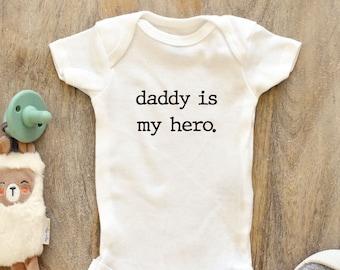 baby onesie thin blue line Mommy is my Hero Daddy is my hero kids shirt thin red line