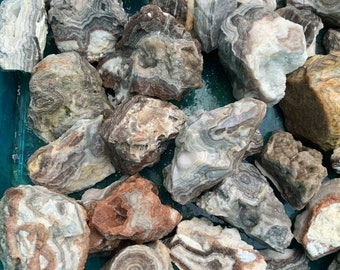 5 Pound Lot of Crazy Lace Banded Agate Rocks Rough Raw Natural Bulk Cabbing Tumbling Lapidary GA