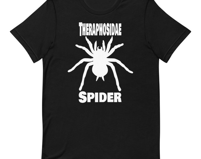 Spider Bird Spider - Theraphosidae - Dark - Short Sleeved Unisex T-Shirt
