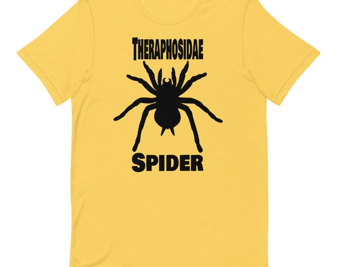 Spider Bird Spider - Theraphosidae - Short Sleeved Unisex T-Shirt