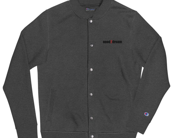 need2dream Original Embroidered Champion Bomber Jacket