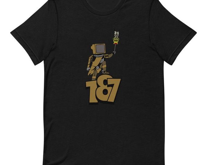 187 TV Robot - Short Sleeved Unisex T-Shirt - Future - Anime - Comic - Future - Kids - Hollyday