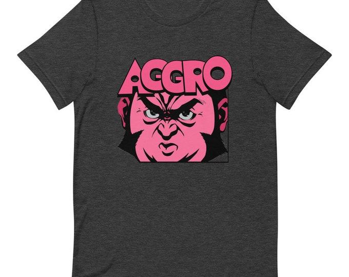 Aggro Face - Short Sleeved Unisex T-Shirt