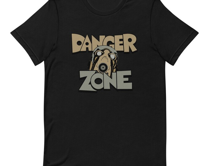 Danger Zone - Short Sleeved Unisex T-Shirt - End Time - Apocalyse - Fighter - Underground