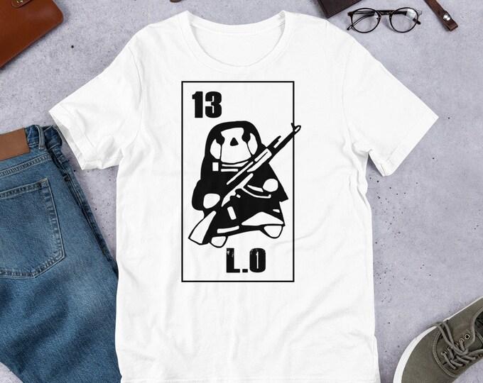 13 L.O - Short Sleeved Unisex T-Shirt