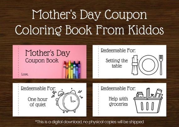 Mothers Day Coupons  Coupons from Kids  Mother's Day