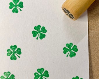 16mm Four Leaf Clover Rubber Stamp S1436 Shamrock Stamp 20mm  Mini Stamps Planner Stamp Cute Four Leaf Clover Stamp