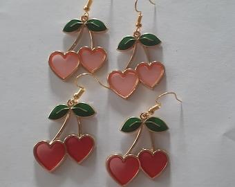 Heart Shaped Cherries Earrings