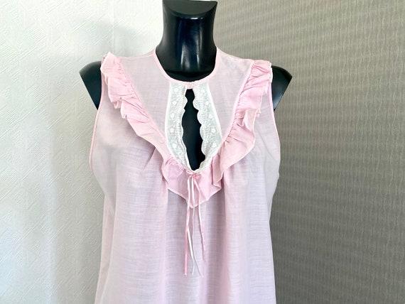 Vintage Pink  Midi Lingerie Under Soft Dress Slee… - image 7