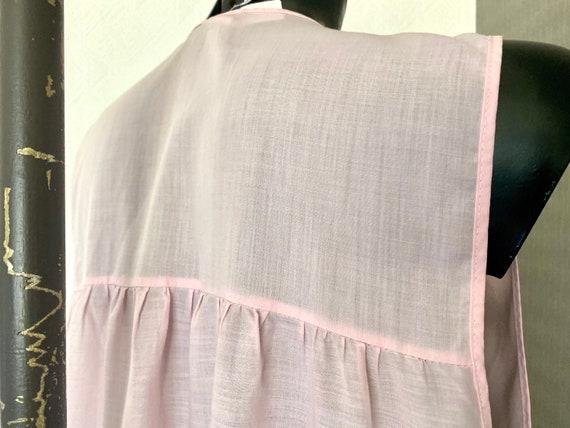 Vintage Pink  Midi Lingerie Under Soft Dress Slee… - image 10