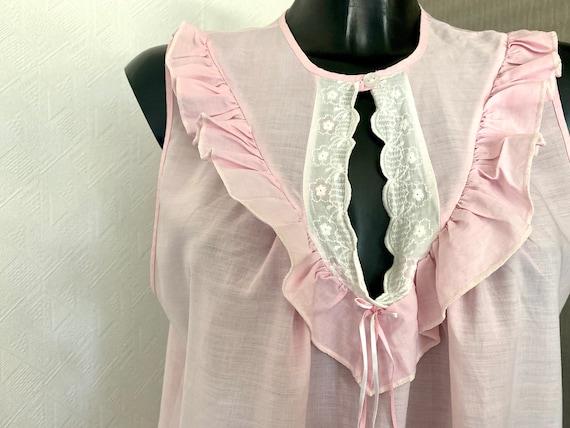 Vintage Pink  Midi Lingerie Under Soft Dress Slee… - image 9