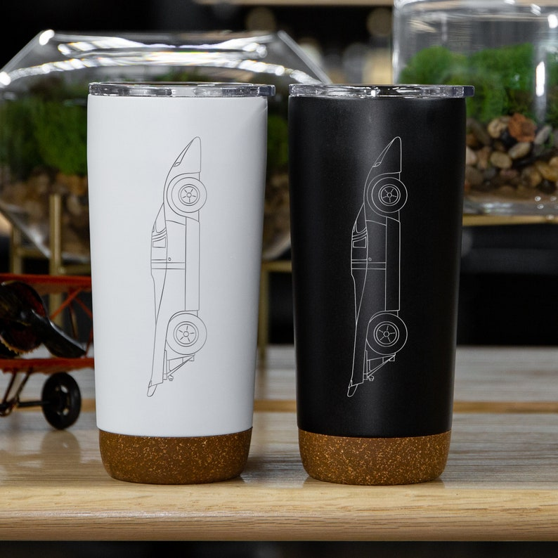 Engraved,Gift for Husband Insulated Coffee Tumbler Car Accessories Porsche 917 Gift for Boyfriend Porsche Classic Personalized Gift