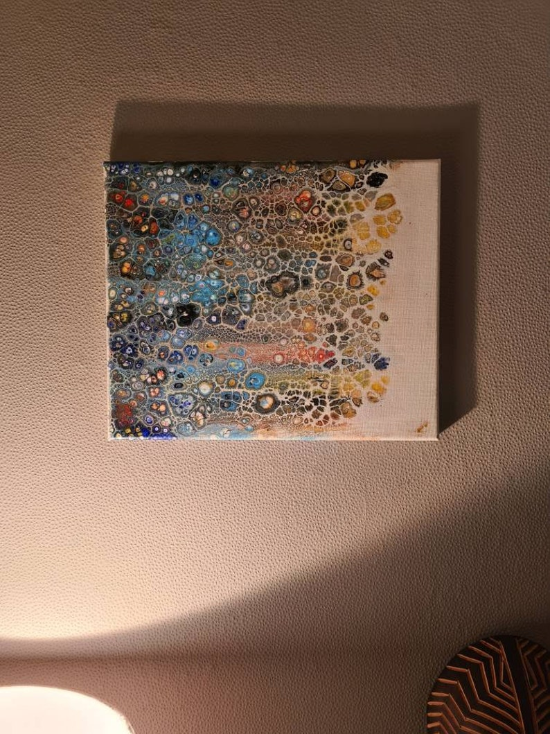 20x30cm Handpainted Abstract Art Handmade Gift Handcrafted Gift Idea On Canvas Acrylic Swipe