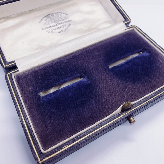 Antique Victorian Leather His & Hers Ring Box | We