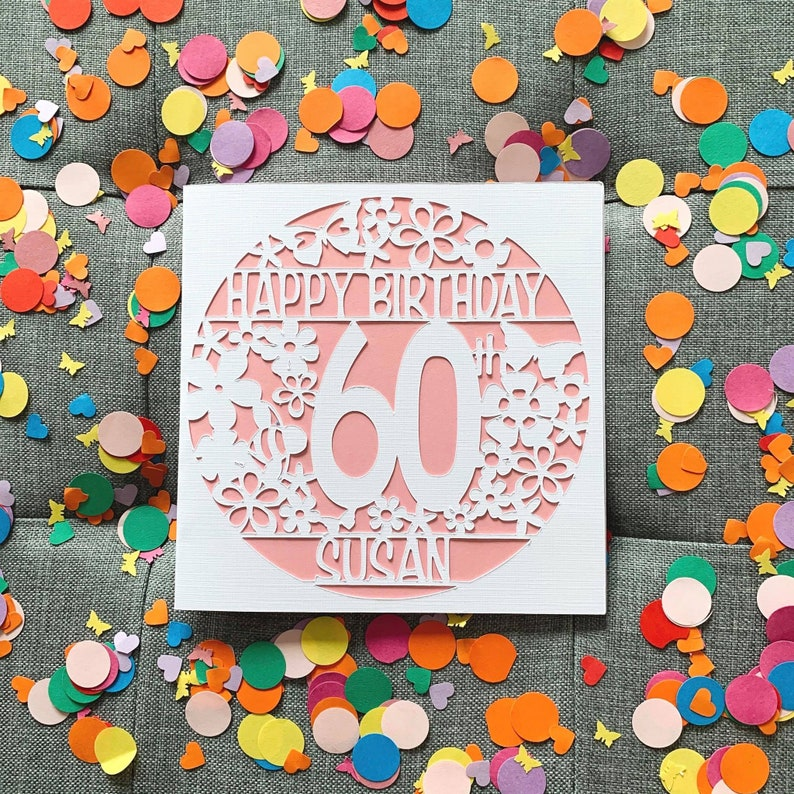 60th birthday card personalised 60th birthday card 60th  etsy