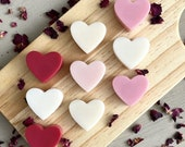 Valentines Heart Wax Melts Mixed Box of 9   100% Soy Wax   Recyclable Packaging   Cruelty Free   Hand Poured   Valentines   Love   Heart