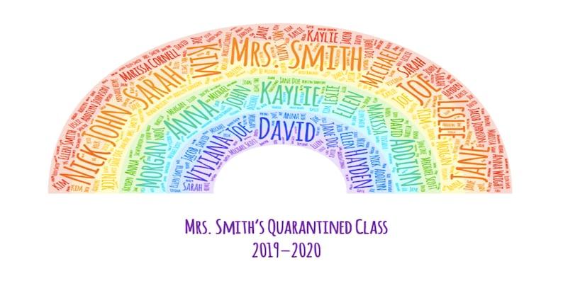 End of Year Teacher Quarantine Rainbow Personalized image 0