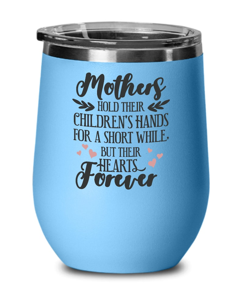 Mothers day gifts hearts forever birthday christmas gift idea for women wine glass
