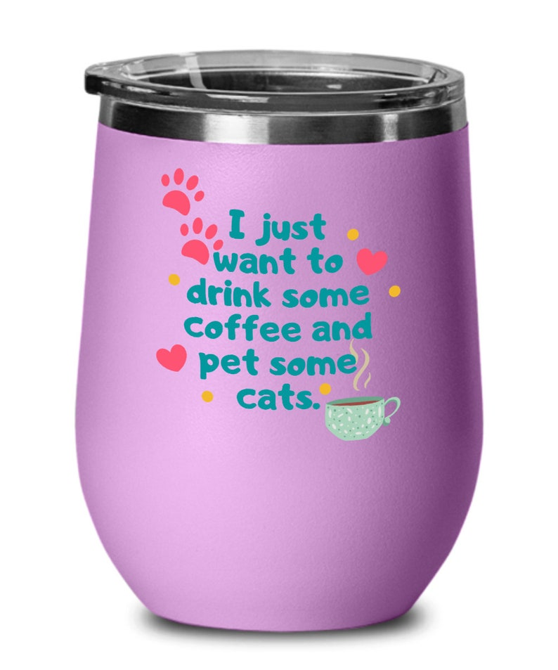 Cat lovers gifts pet some cats birthday christmas gift idea for men women wine glass