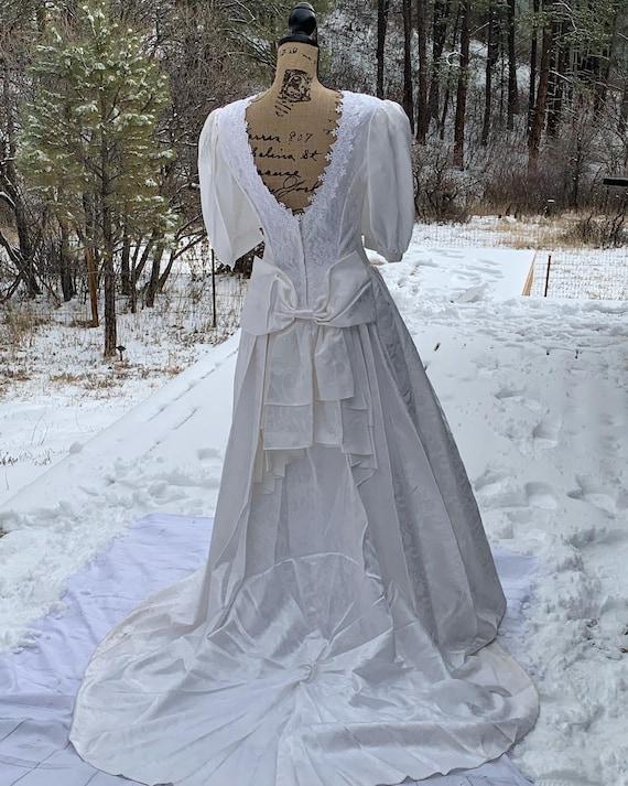 80's Jessica McClintock Wedding Dress