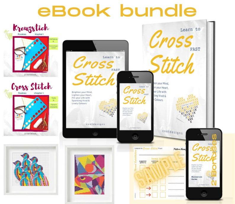 Learn To Cross Stitch Fast eBook Bundle Cross Stitch image 0