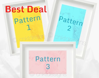 Cross Stitch Pattern Bundle of 3, Choose Your Own, Abstract Cross Stitch Pattern, Counted Cross Stitch Pattern, Modern Cross Stitch Pattern
